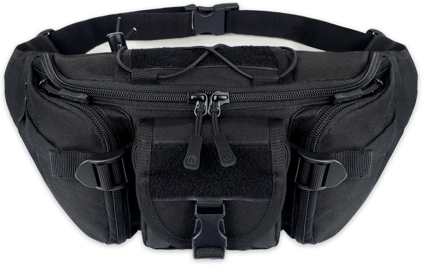 Tactical Bumbag Molle Military Large Waterproof Fanny Pack Bum Bag for Outdoors Hiking Camping Running Walking Trekking Waist Bag