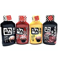 (Product of Japan) Gyu-Kaku Authentic Japanese Yakiniku BBQ Sauce | 牛角日式燒肉醬 (4 Variety Pack)