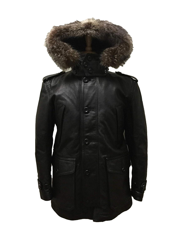 512763f781 Amazon.com: Coach 83997 Men's Thompson Leather Snorkel Parka ...
