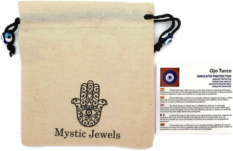 Mystic Jewels Porte-cl/és /œil Turc /él/éphant avec Porte-Bonheur