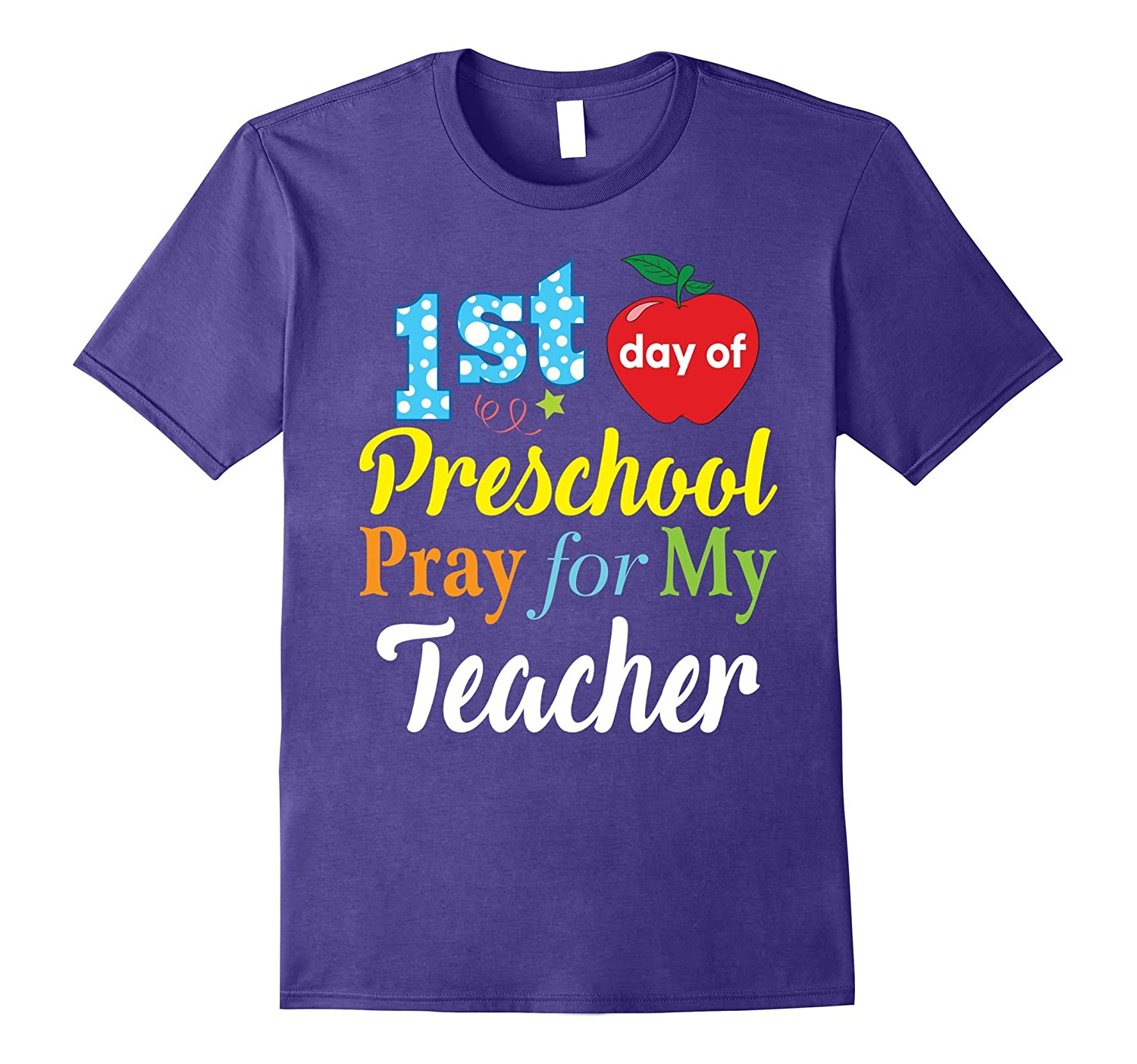 First Day of Preschool Pray for My Teacher T-Shirt Kids-BN