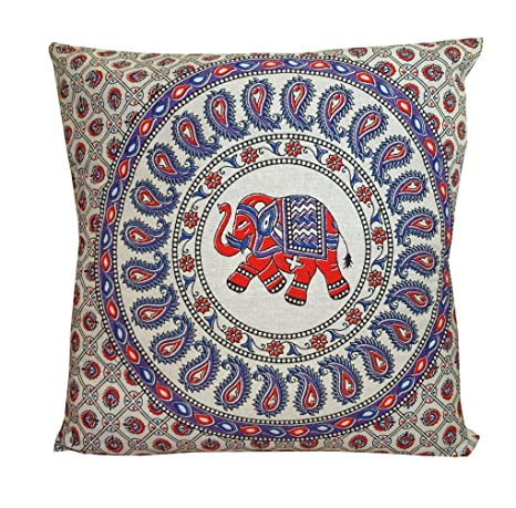 Amazon.com: Funda de cojín decorativa con diseño de elefante ...
