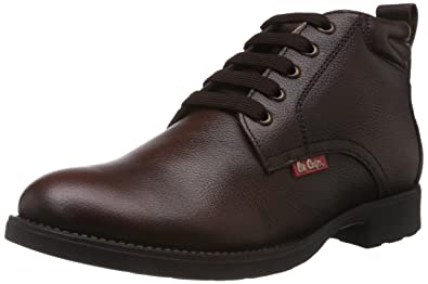 Lee Cooper Men's Brown Leather Boots ...