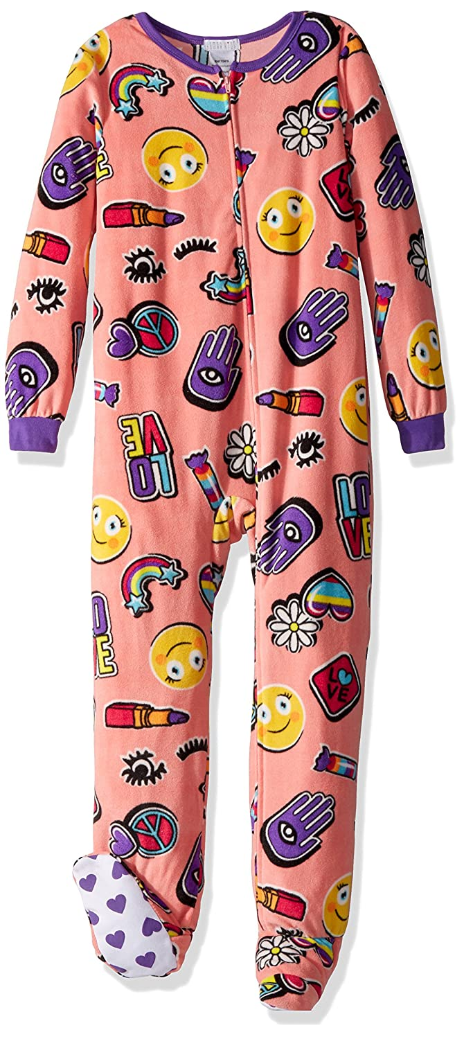 Komar Kids Girls Big Plush Velour Fleece Footed Blanket Sleeper Pajama
