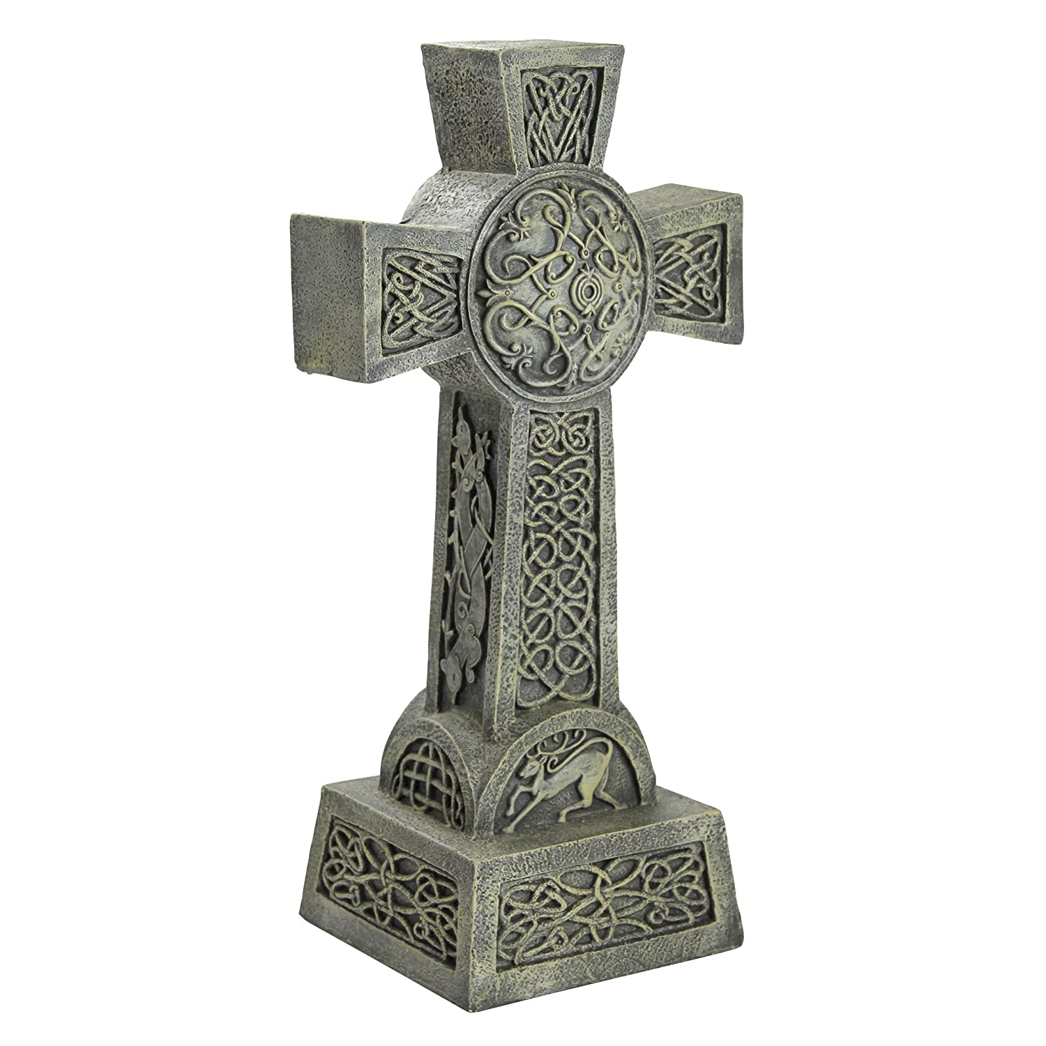 Design Toscano Donegal Celtic High Cross Statue - Irish Cross Statue - Memorial Statue