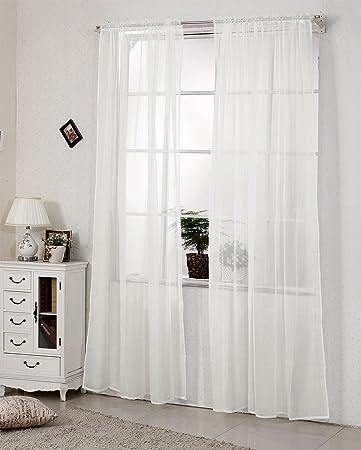 Woltu Vh5515cm 2 2er Set Gardinen Vorhange Transparent Mit