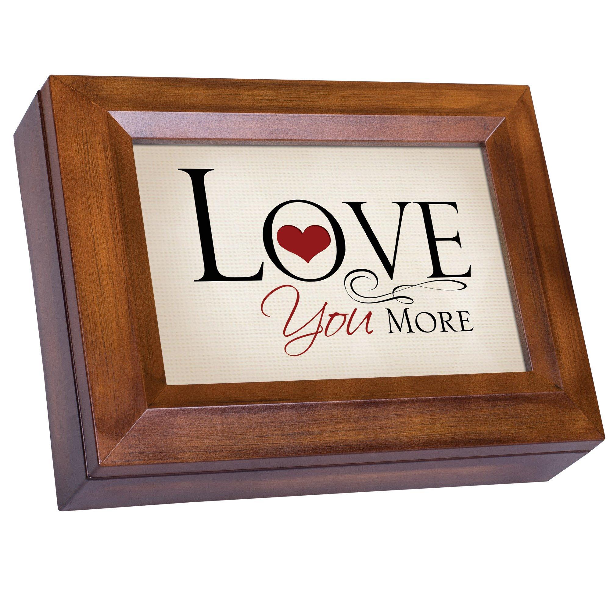 Cottage Garden Love You More Woodgrain Digital Keepsake Music Box Plays Good Morning Beautiful