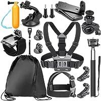 Neewer 14-EN-1 Kit d'accessoires pour GoPro Hero 6 5 4 3+ 3 2 1 Hero Session 5 Noir AKASO EK7000 Apeman SJ4000 5000 6000 DBPOWER AKASO VicTsing WiMiUS Rollei QUMOX Lightdow Campark et Sony Sports DV