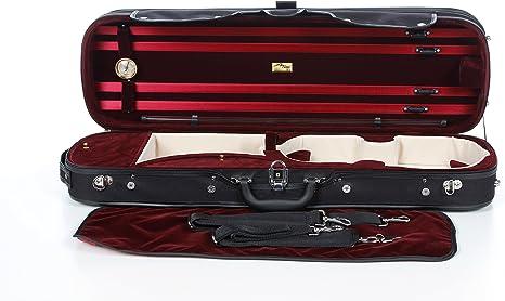 Estuche para violín de madera 4/4 color Rojo M-Case: Amazon.es: Instrumentos musicales