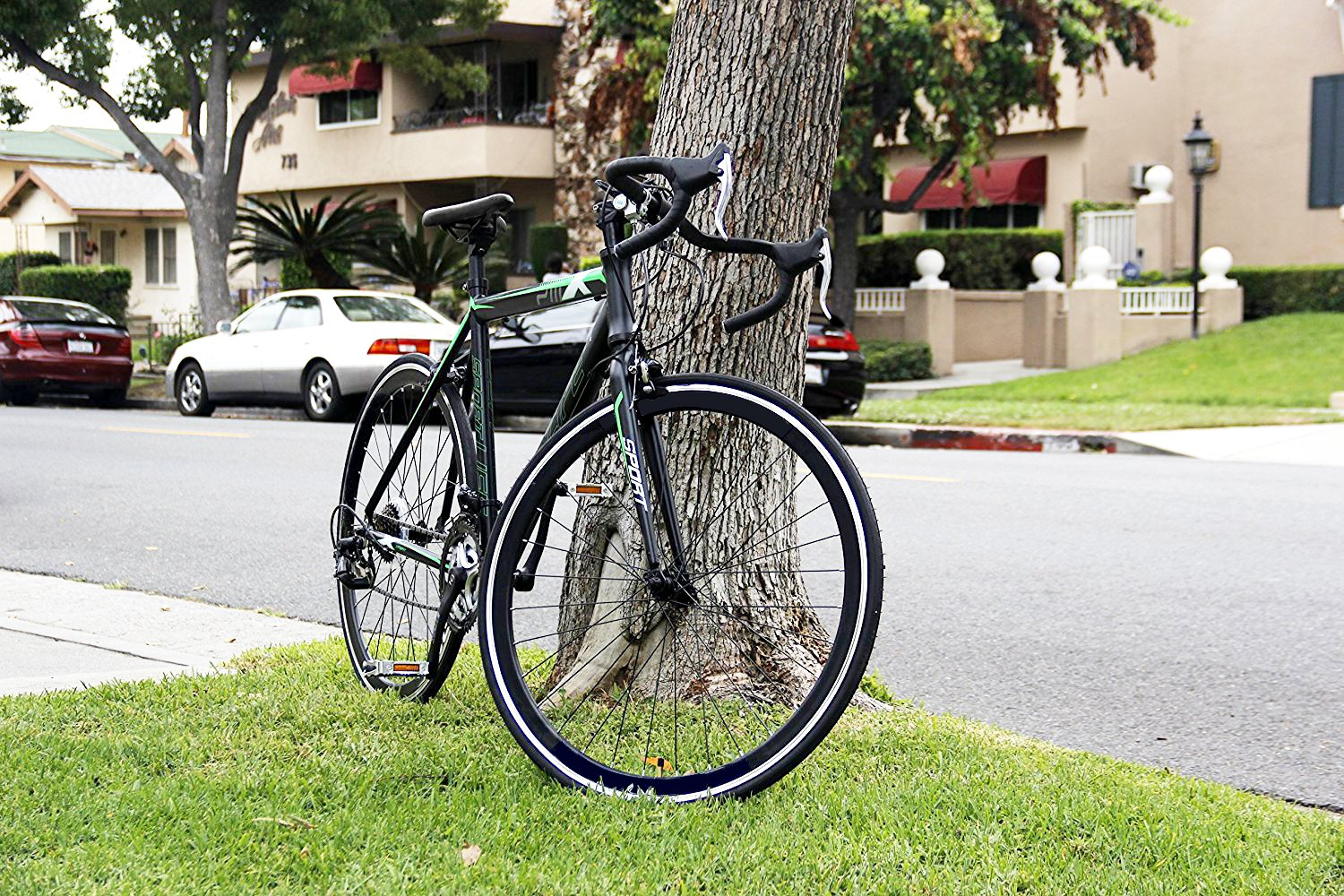 Road Bike Aluminum Commuter Bike Shimano 21 Speed 700c x 25c Racing Bicyle Sport Life Black 58cm by Gr8 Sport + Life (Image #5)