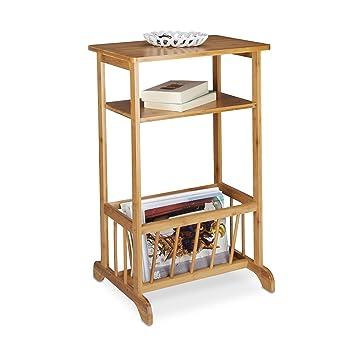 Relaxdays Porterevues En Bambou Table Dappoint Table Console Porte - Porte magazine