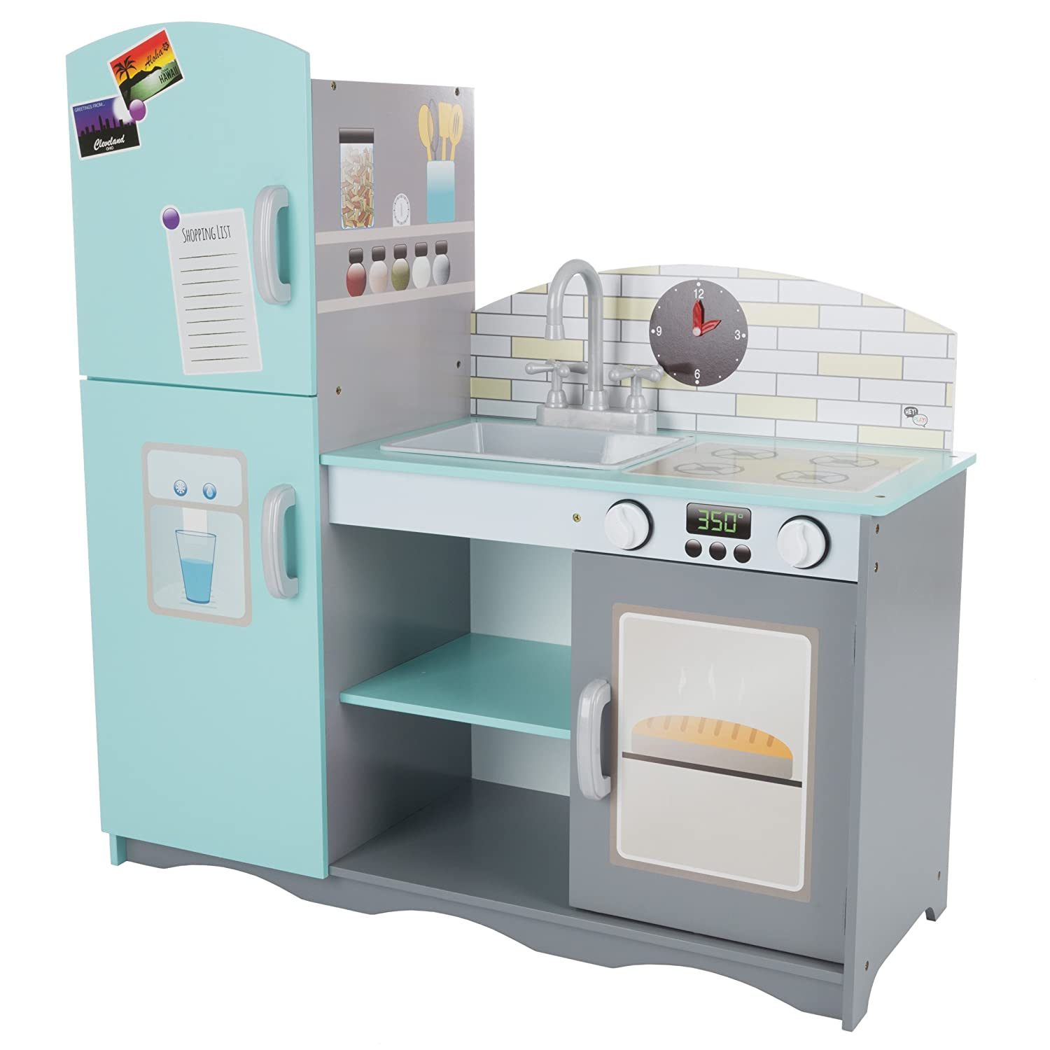 Amazon.com: Hey! Play! 80-PP-HH01 Kids Toy Kitchen Set, Multicolor ...