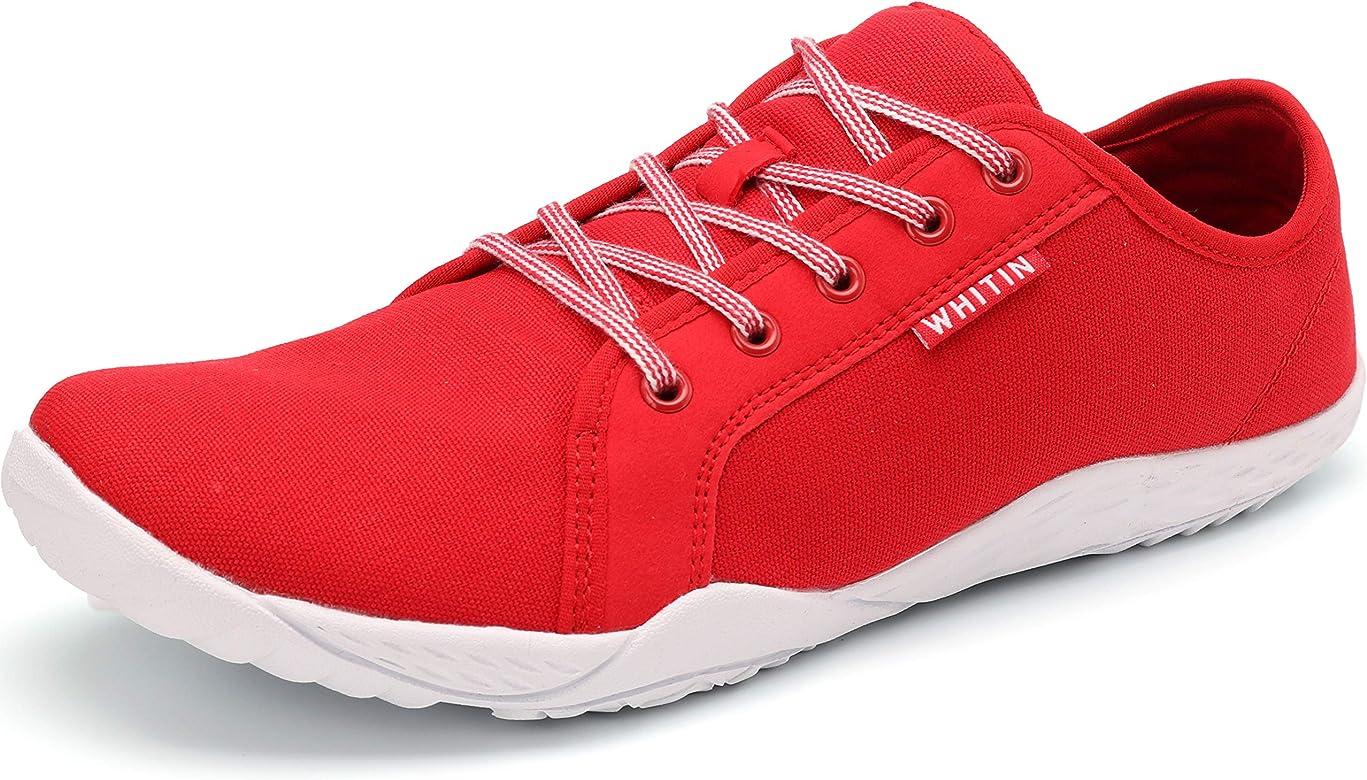 WHITIN Zapatos minimalistas unisex de punta ancha para correr descalzos, color Rojo, talla 41 EU: Amazon.es: Zapatos y complementos