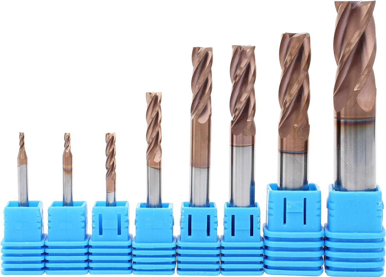 6mm End Mills Single Flute Spiral 2Pcs Carbide For Aluminium 6*22mm New