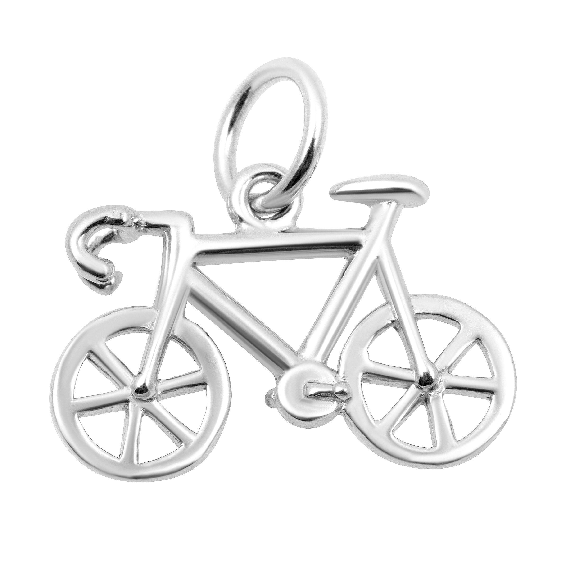 Necklace & Bracelet Charms, Sports & Fitness Theme Sterling Silver Jewelry by Silver on the Rocks by Silver on the Rocks (Image #1)