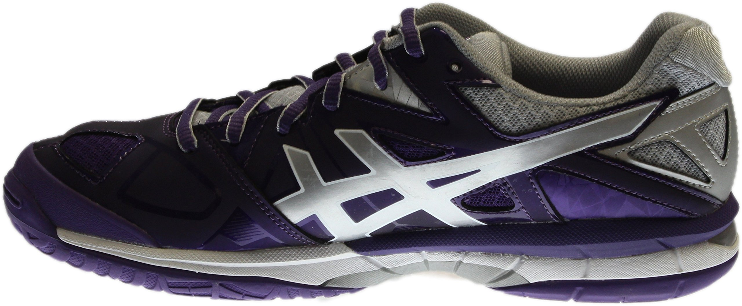 ASICS Women's Gel Tactic Volleyball Shoe, Purple/Silver/White, 9.5 M US by ASICS (Image #4)