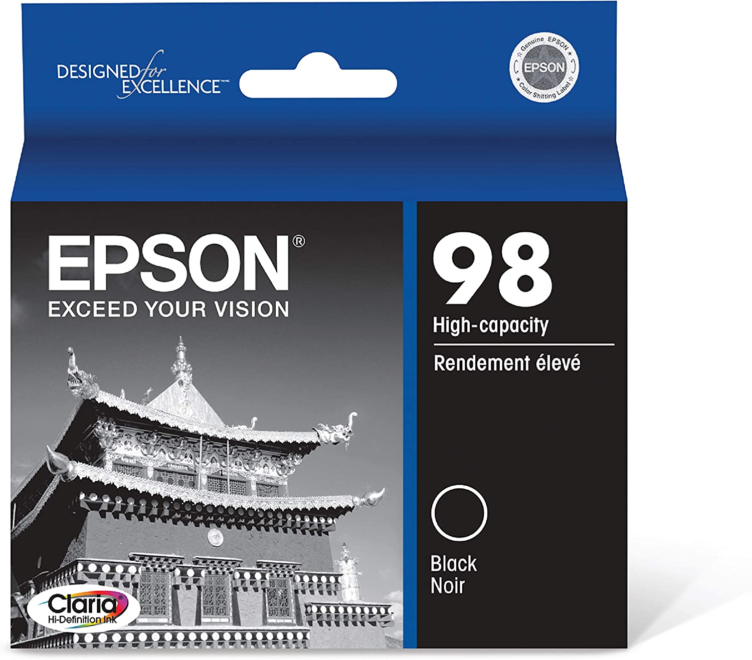 Epson T098120 Claria Hi-Definition Black High Capacity Cartridge Ink