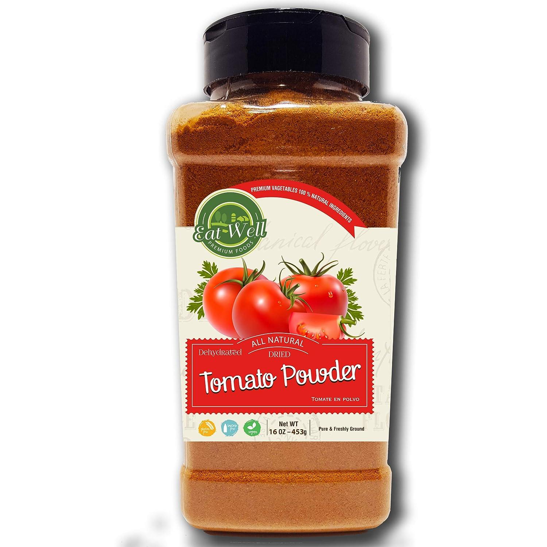 Dried Tomato Powder   16oz - 453 g - Bulk Spice Quart Jar with Shaker Top   100% Natural   Tomato Soup   Premium Grade, Freshly Packed