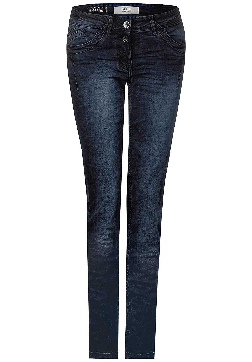 Cecil Loose fit Jeans mit Crinkles und Highlights