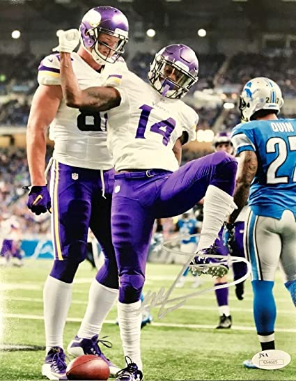 e25de0dc9 Stefon Diggs Minnesota Vikings Autographed Signed 8x10 Picture JSA -  Certified Authentic