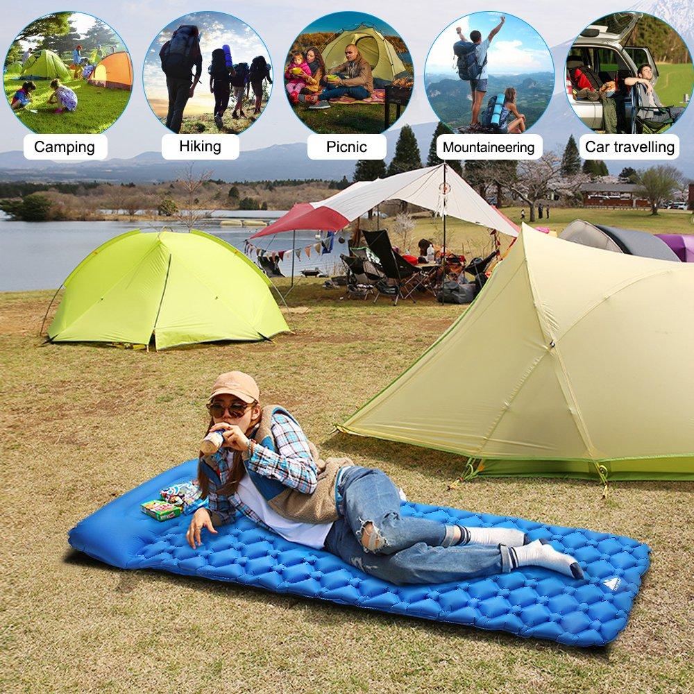 Agm Matelas De Camping Gonflable Matelas Autogonflant Matelas