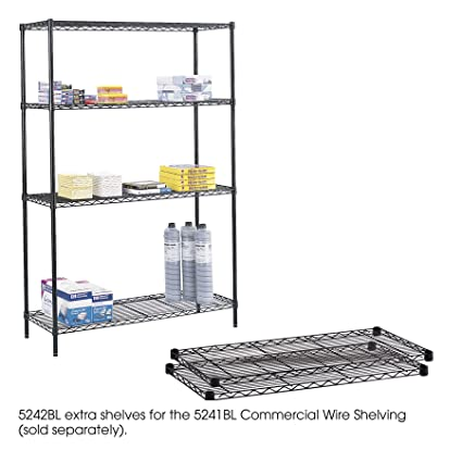 Amazon.com: Safco Products 5242BL Commercial Wire Shelving Extra ...
