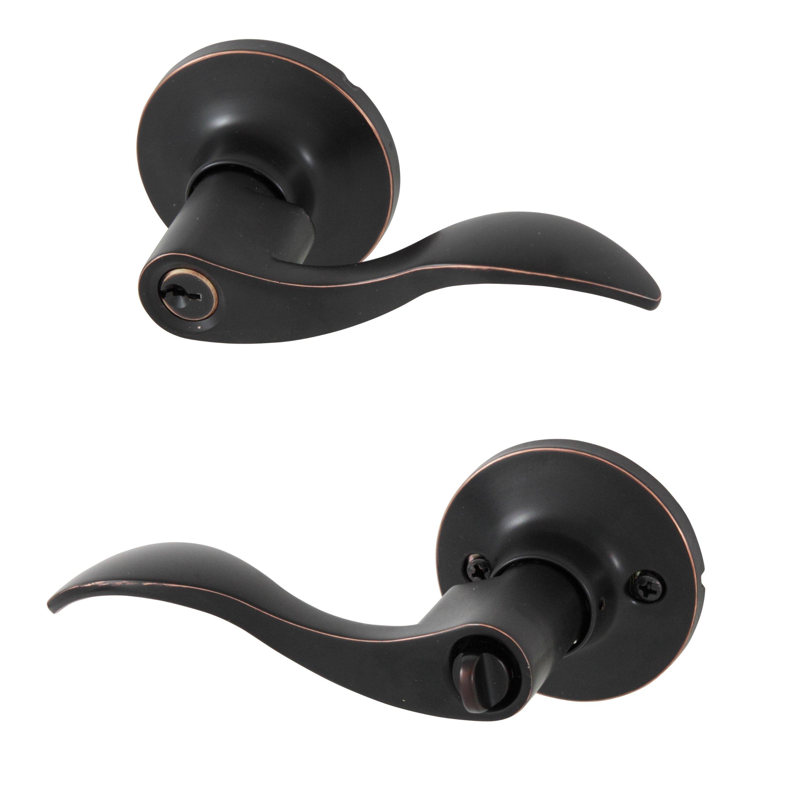 Honeywell 8106401 Wave Entry Door Lever, Oil Rubbed Bronze by Honeywell Safes & Door Locks
