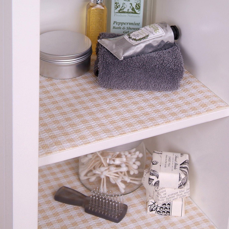 Con-Tact Brand Grip Prints Non-Adhesive 12x5 Drawer//Shelf Liner No Slip Counter Khaki Plaid