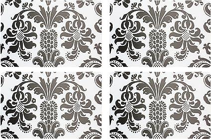 Juego Mesa 4 Clasico Floral Vintage Diseno Vade Alfombrillas De