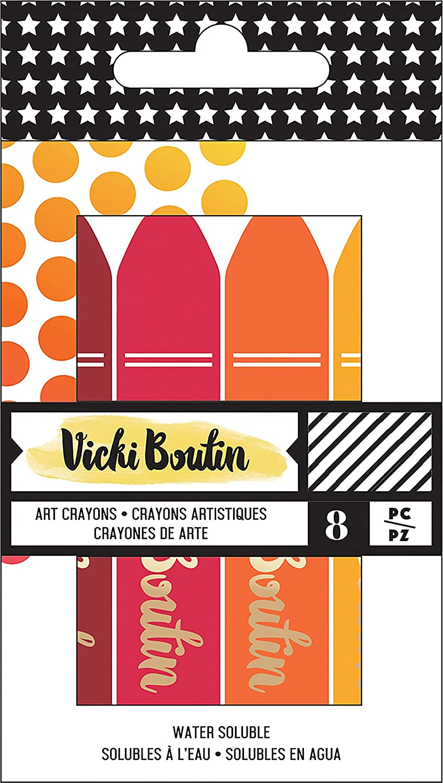 3.17 x 6.35 x 0.08 cm Multi-Colour American Crafts Vicki Boutin Mixed Media Art Crayons Oil Pastel
