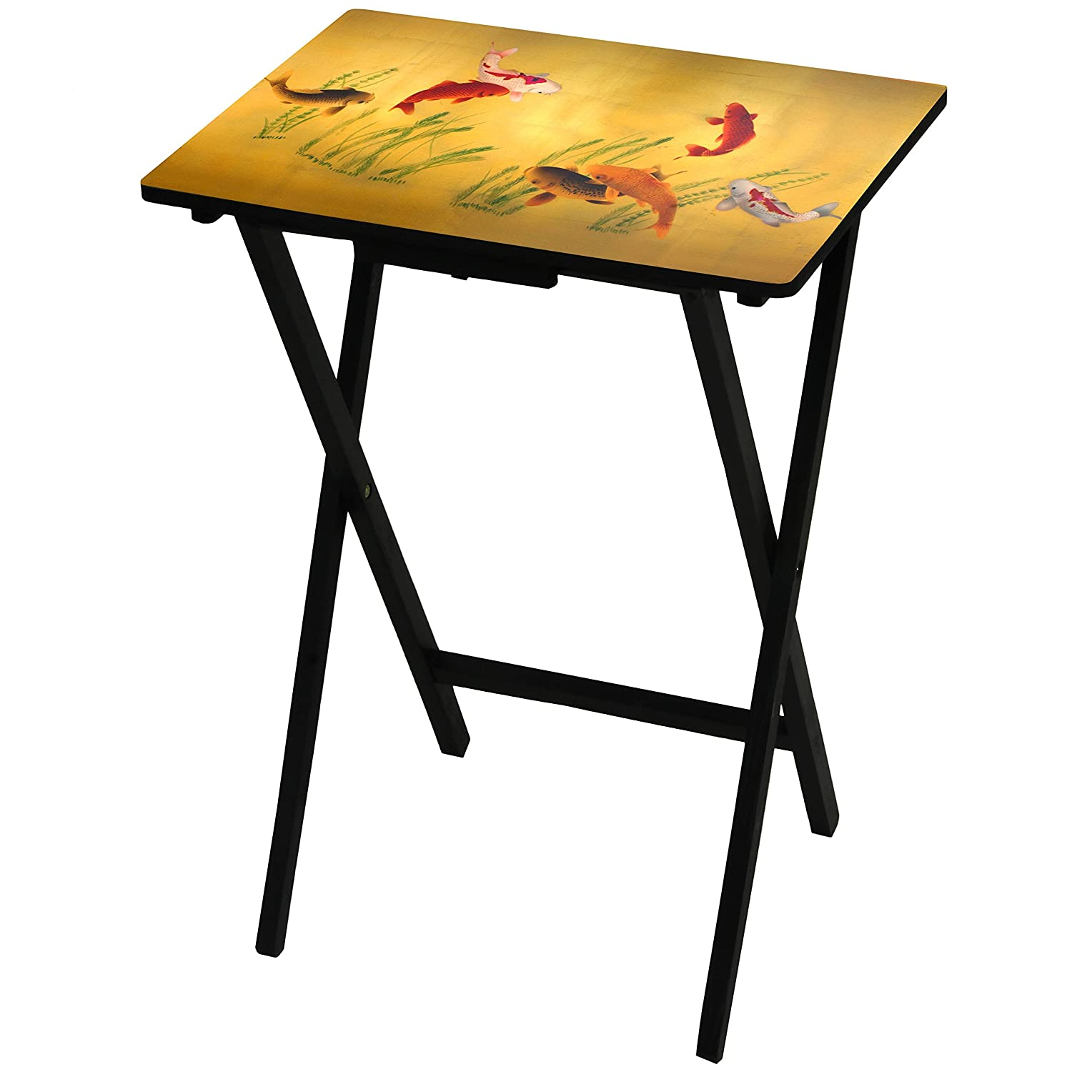 Oriental Furniture Lucky Fish TV Tray CAN-TV-SILK6