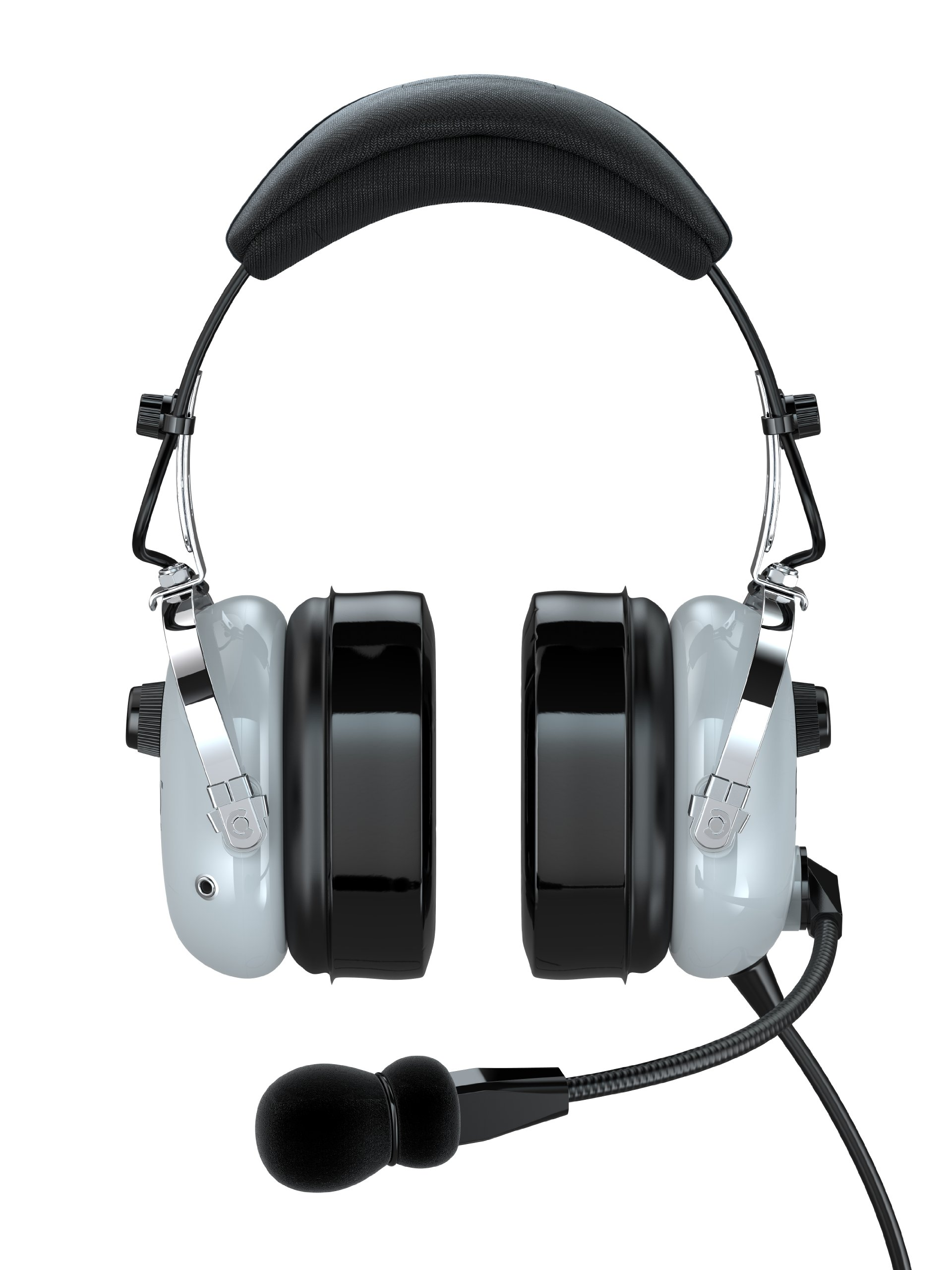 FARO G2-PNR Premium Pilot Aviation Headset with Mp3 Input (Adapters for aviation headset connectors, standard dual GA adapter universal support)-Gray by Faro Aviation
