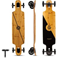 Glider Collection | Longboard Skateboards | Large 100mm Wheels | Bamboo with Hard Maple Core