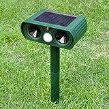 Animale repellente ultrasuoni solare repellente esterno per animali gatto, cane, volpe, pour s8plus, verde, 1
