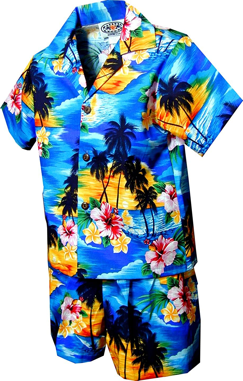 Amazon.com: Pacific Legend Boys Brilliant Hawaiian Island Sunset ...