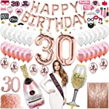 30th Birthday Decorations For Her 30th Birthday Balloons, 30th Birthday Cake Topper, Happy 30th Birthday Decorations…