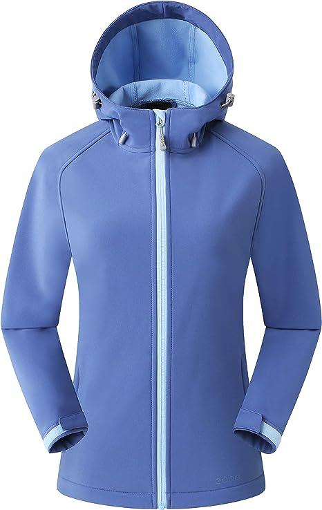 Eono Essentials Womens Mid-Weight Hooded Softshell Jacket