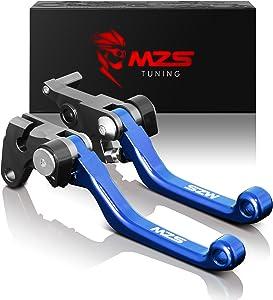 MZS Pivot Levers Brake Clutch CNC Compatible with Yamaha YZ125 YZ250 YZ426F YZ450F 2001-2007/ YZ250F 2001-2006 (Blue)