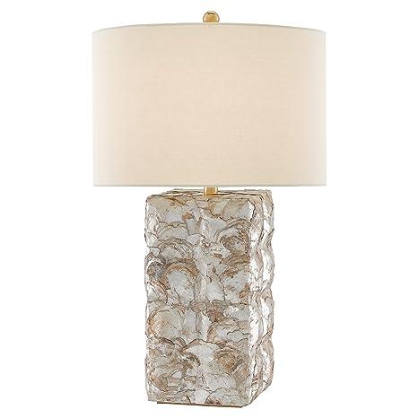Edson Coastal Beach Capiz Shell Table Lamp Amazon Com