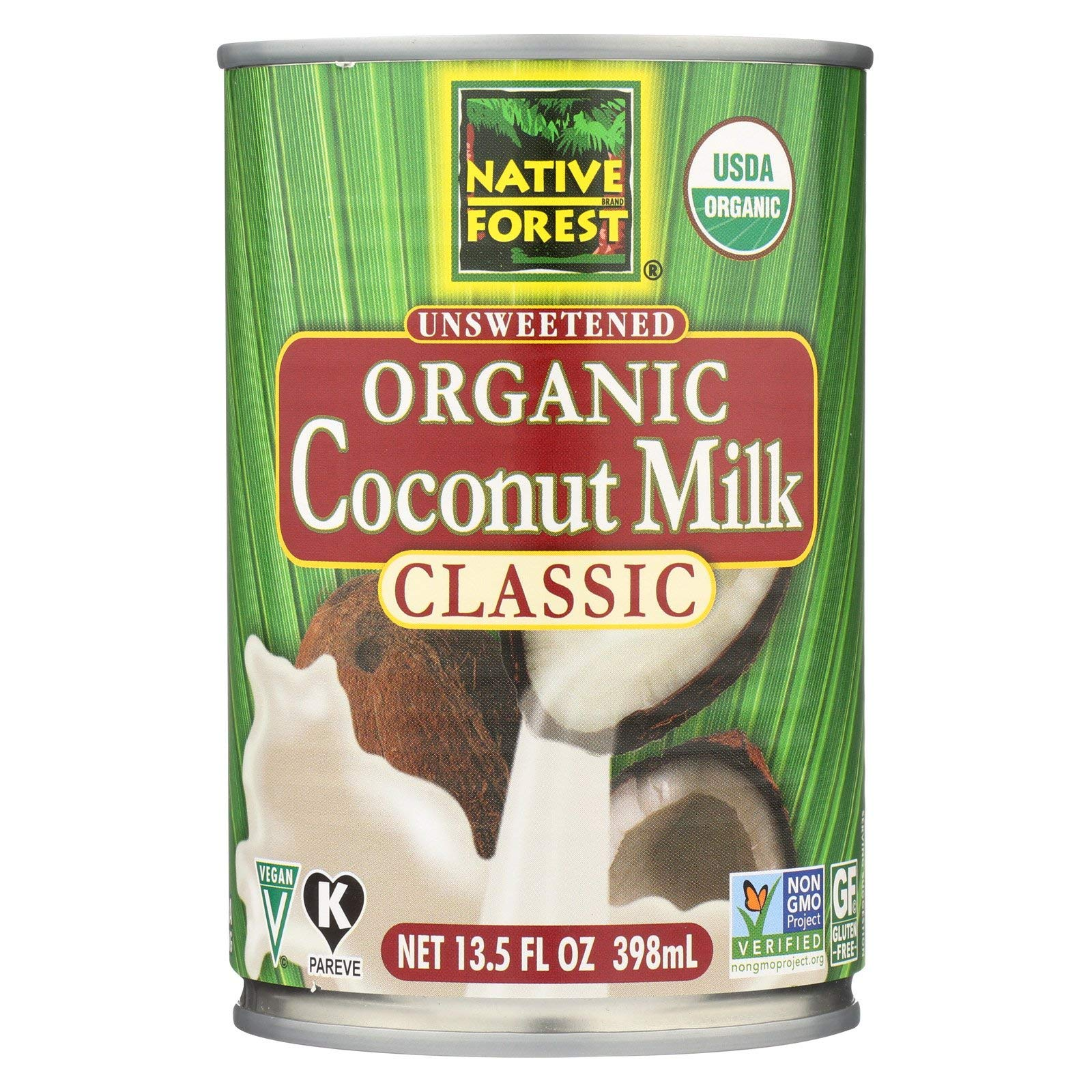 Native Forest Organic Classic Coconut Milk, 13.5-Ounce Cans (Pack of 12)