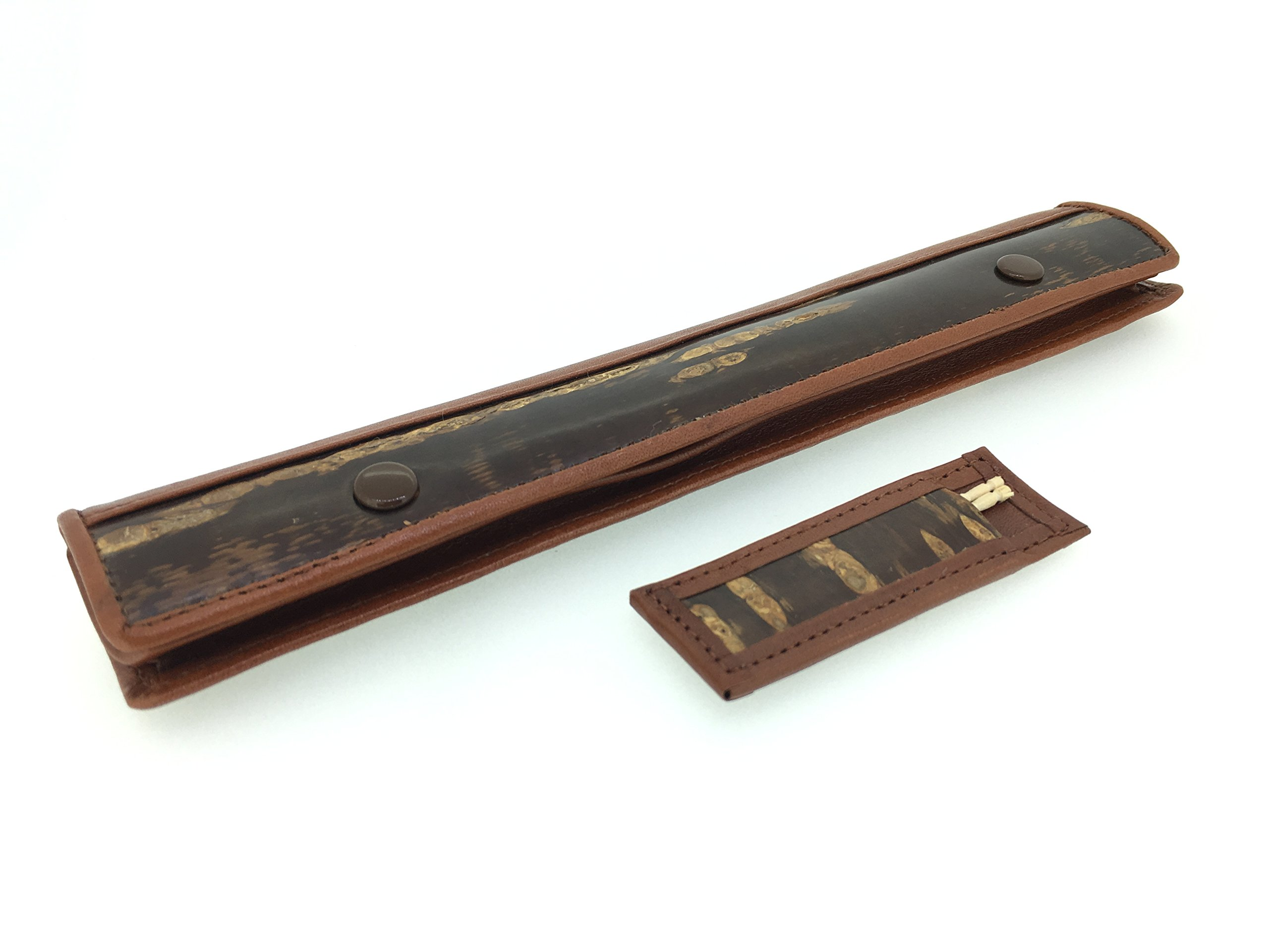 Kabazaiku & Leather Chopstick Case