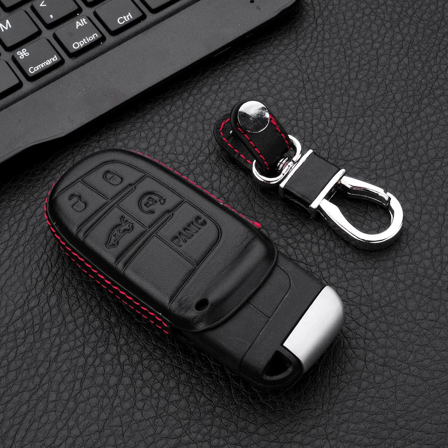 Weave Keychain M.JVisun Soft Silicone Rubber Carbon Fiber Texture Pattern Cover for Jeep//Dodge//Chrysler//Fiat Black Car Remote Key Fob Case for Jeep//Dodge//Chrysler//Fiat Key Fob