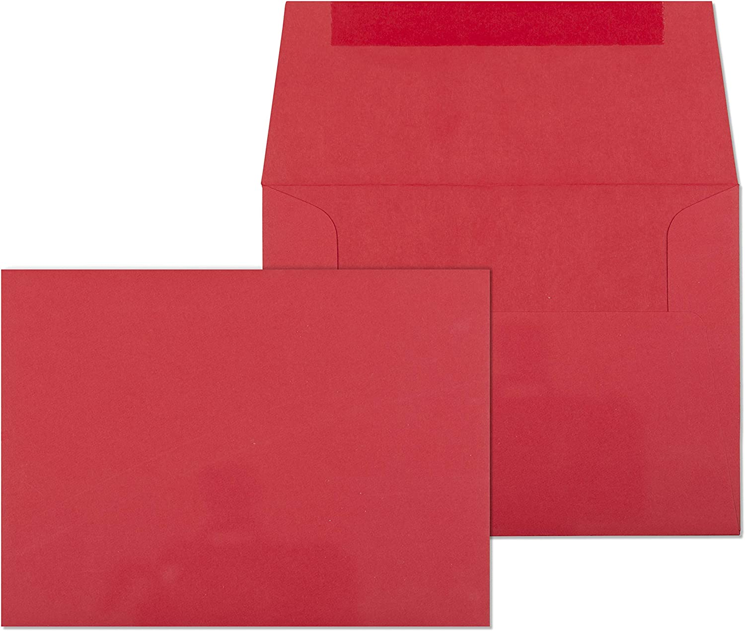 4x6 Envelopes for Invitations, Photos, Graduation, Baby Shower 4x6 Cards, Weddings,- Colored Envelope A6 4 3/4 x 6 1/2 Square Flap Pack of 50 (Red)
