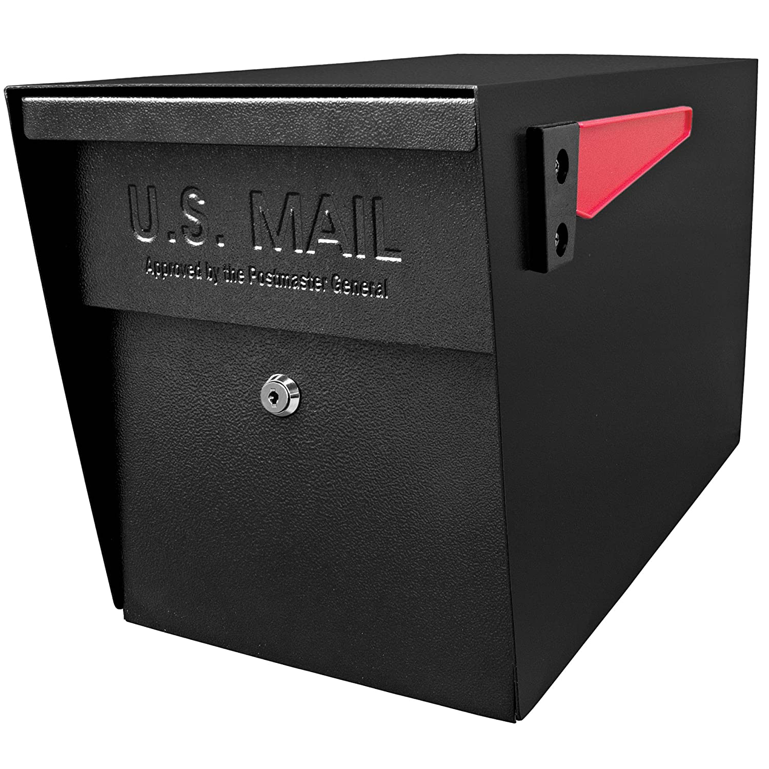 Mail Boss 7106 Curbside Security, Black Locking Mailbox 21 in. D x 11.125 in. W x 13.75 in. H