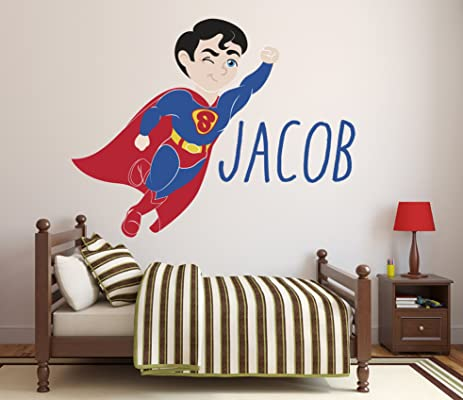 Exceptionnel Custom Name Superman Wall Decal Baby Boy Kids Decor Personalized Nursery  Gift Vinyl Art