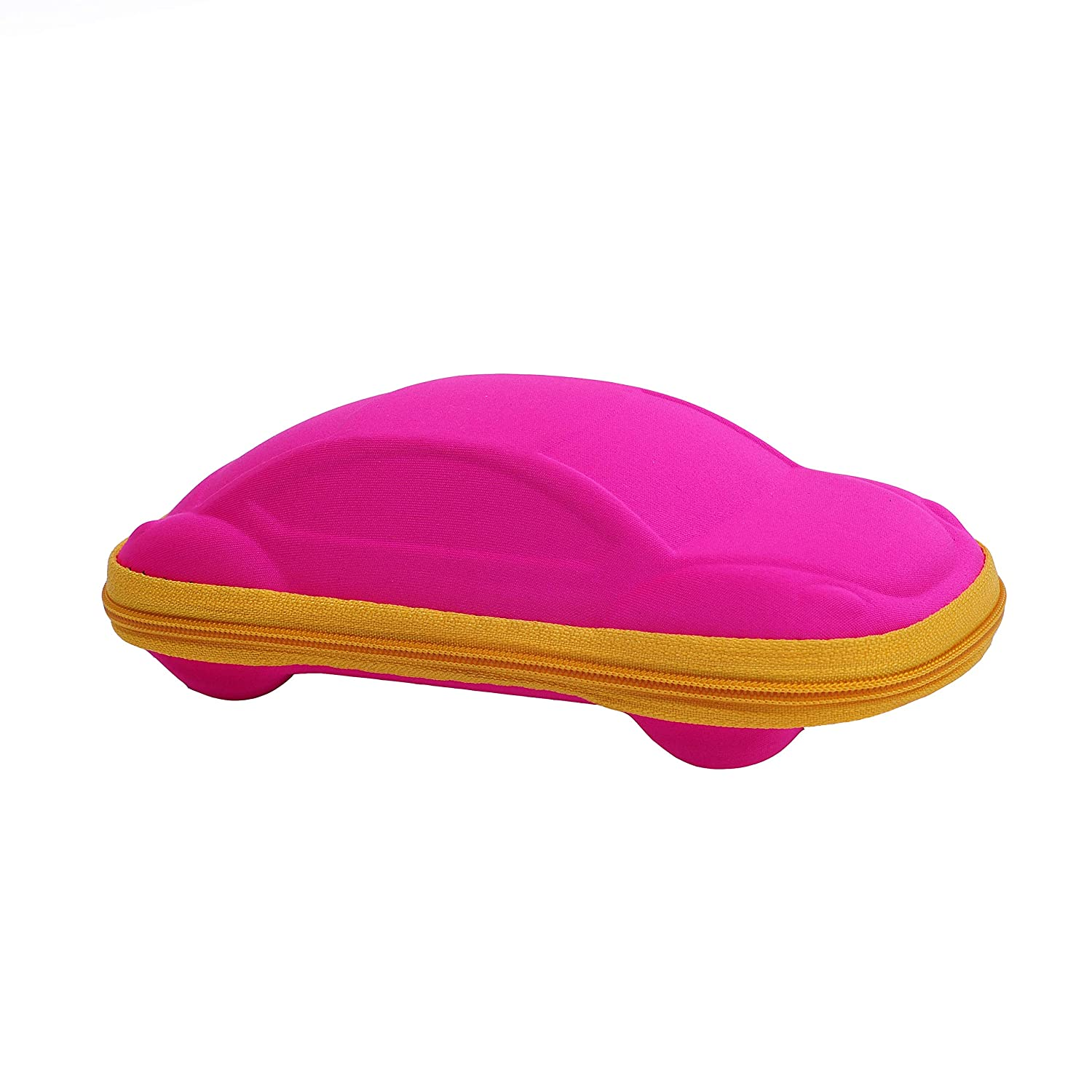 Green Glasses Cleaning Cloth Glasses Case for Kids Boys Girls Sunglass Storage Box Cool Car Shape