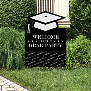 product image for Big Dot of Happiness Graduation Cheers - Party Decorations - Graduation Party Welcome Yard Sign