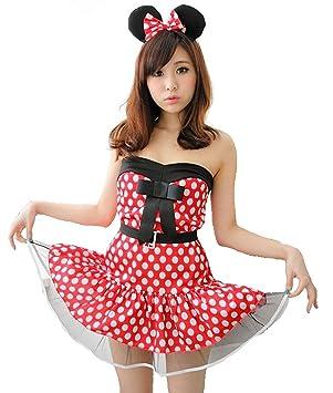 3 piezas Conjunto hw000001 Minnie Mouse traje Clipper Nari [rojo ...