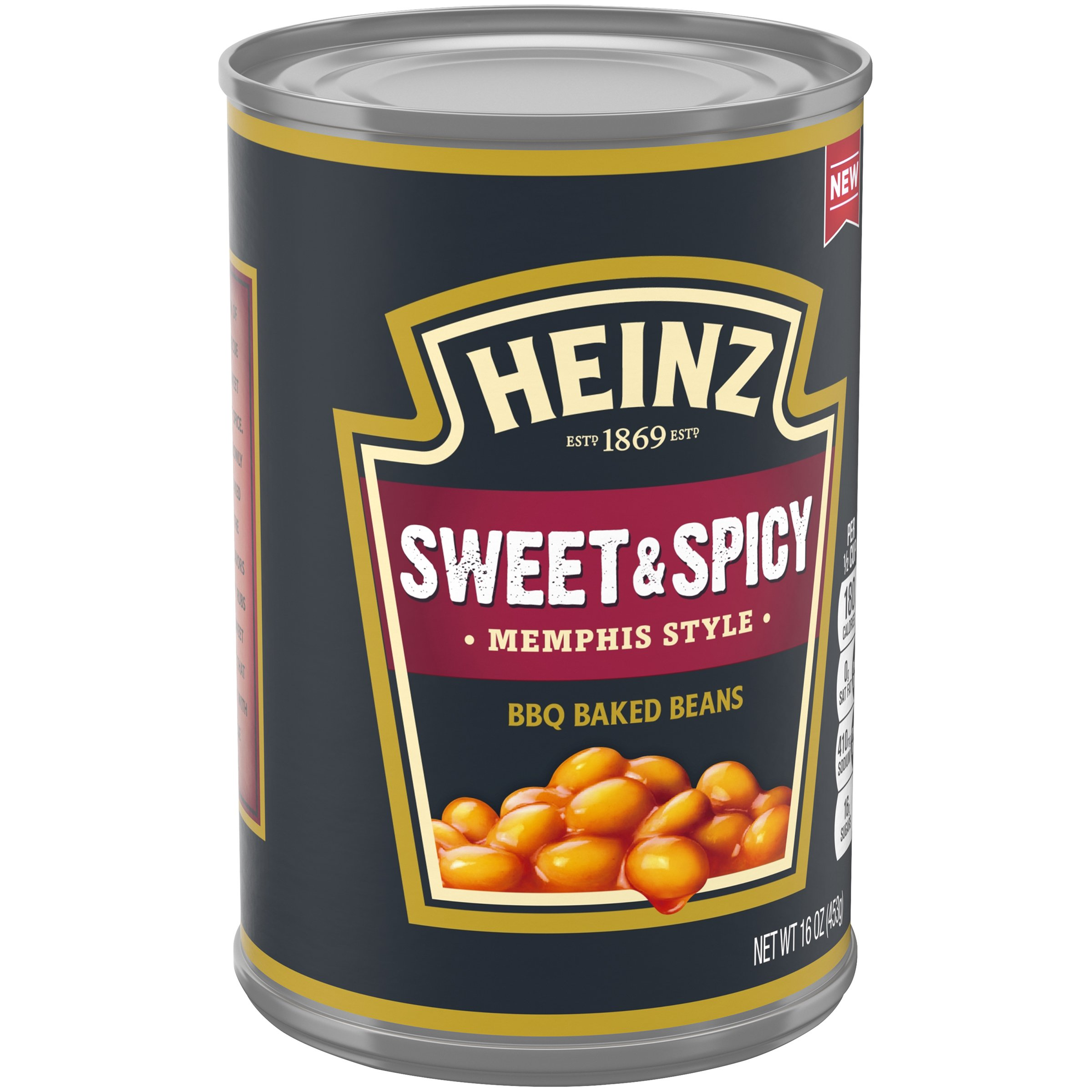 Heinz Memphis Style Sweet & Spicy BBQ Baked Beans Can, 16 Ounce (Pack of 12) by Heinz