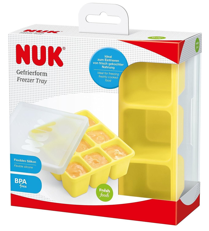 einzeln auftaubar NUK 10255257 Fresh Foods Gefrierform zum Einfrieren von Babynahrung neun Portionen /à BPA frei 1 St/ück